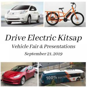 Drive Electric Kitsap – Vehicle Fair and Presentations