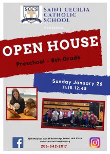 Open House for Saint Cecilia Catholic School