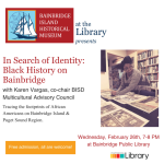 In Search of Identity: Black History on Bainbridge with Karen Vargas