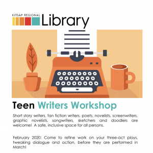 CANCELED FOR MARCH: Teen Writers Workshop