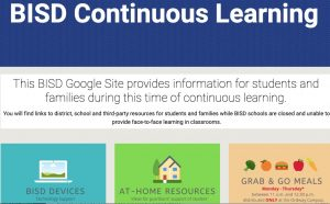 NEW WEBSITE: BISD Continuous Learning