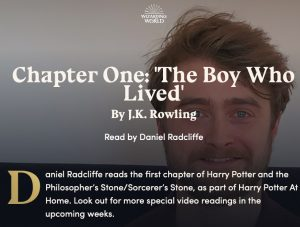 Chapter One: 'The Boy Who Lived' By J.K. Rowling Read by Daniel Radcliffe