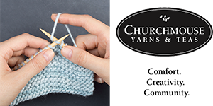 Ad for ChurchMouse Yarns & Tea