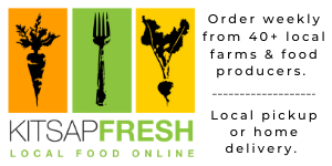 Ad for Kitsap Fresh, Local Food Online