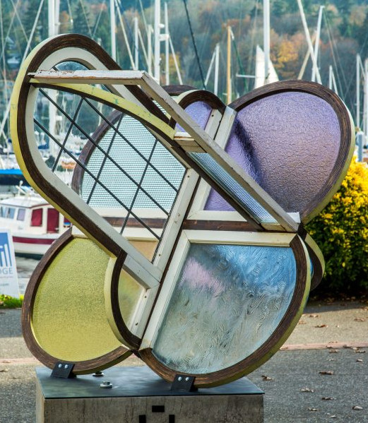 Colorful Shape of Memory sculpture by artist Fumi Aman